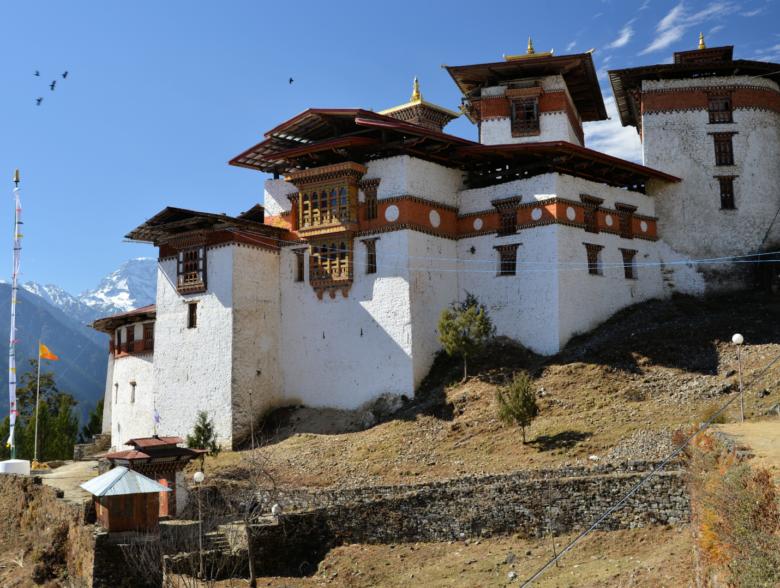 Gasa monastery in Bhutan
