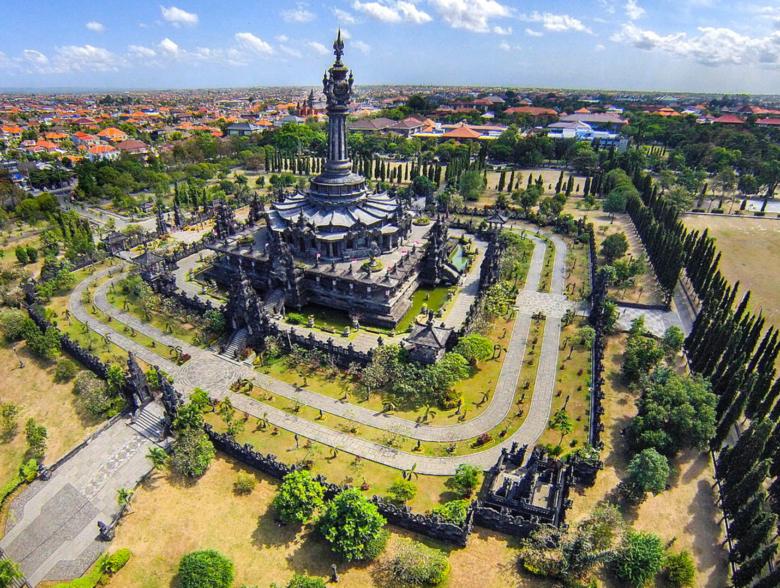 Denpasar city in Indonesia