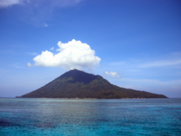 Manado island in Indonesia