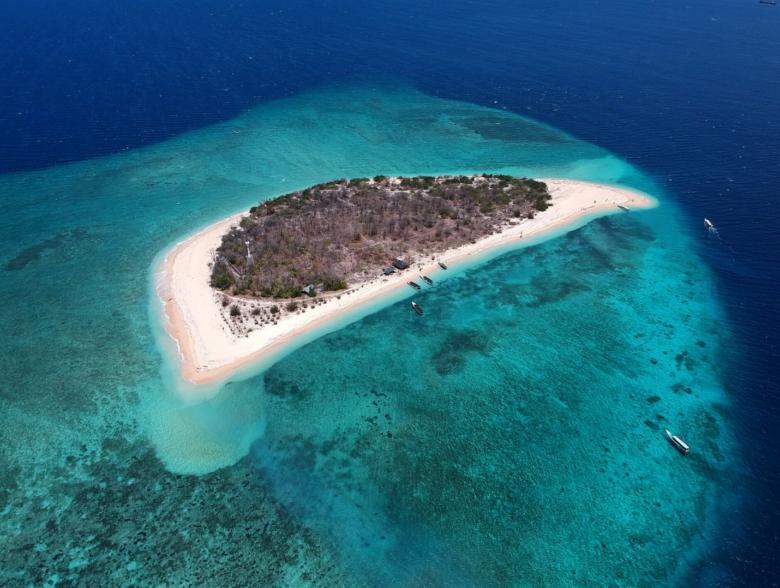 Addu-Atoll island in Maldives