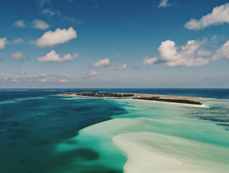 Dhangethi Island in Maldives