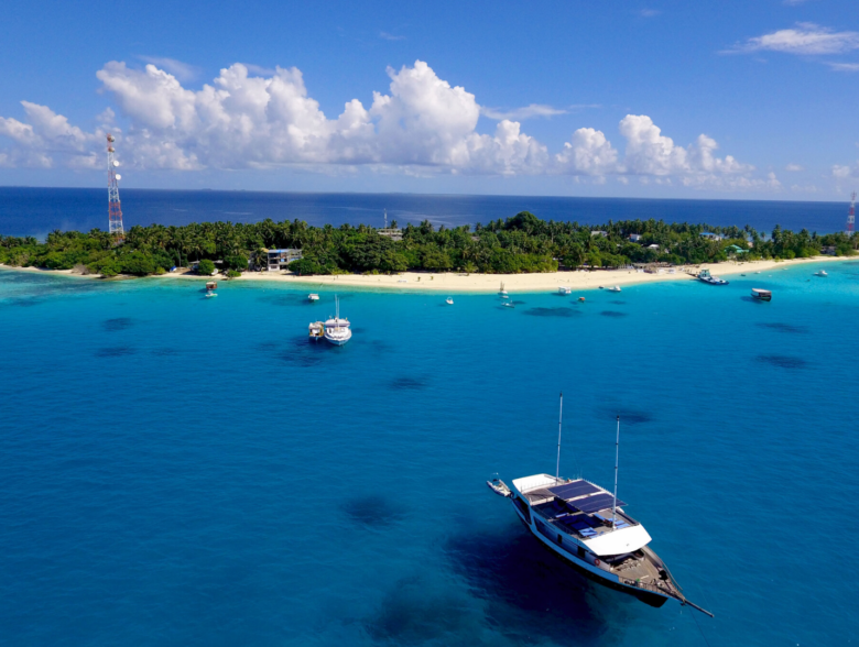 Fulidhoo Island in Maldives