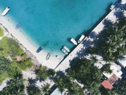 Gan Island in Maldives