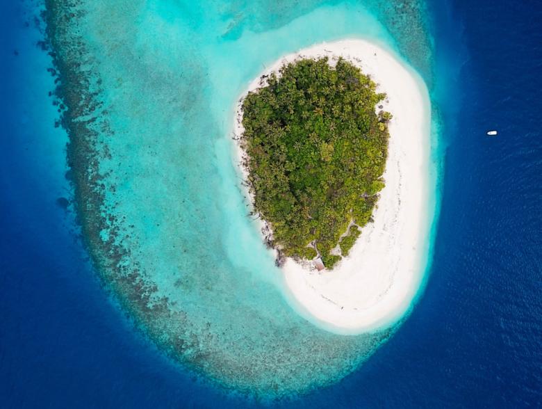 Maamigili island in Maldives