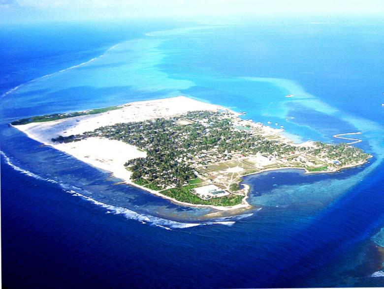Thinadhoo island in Maldives