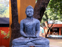stone statue of Lord Buddha